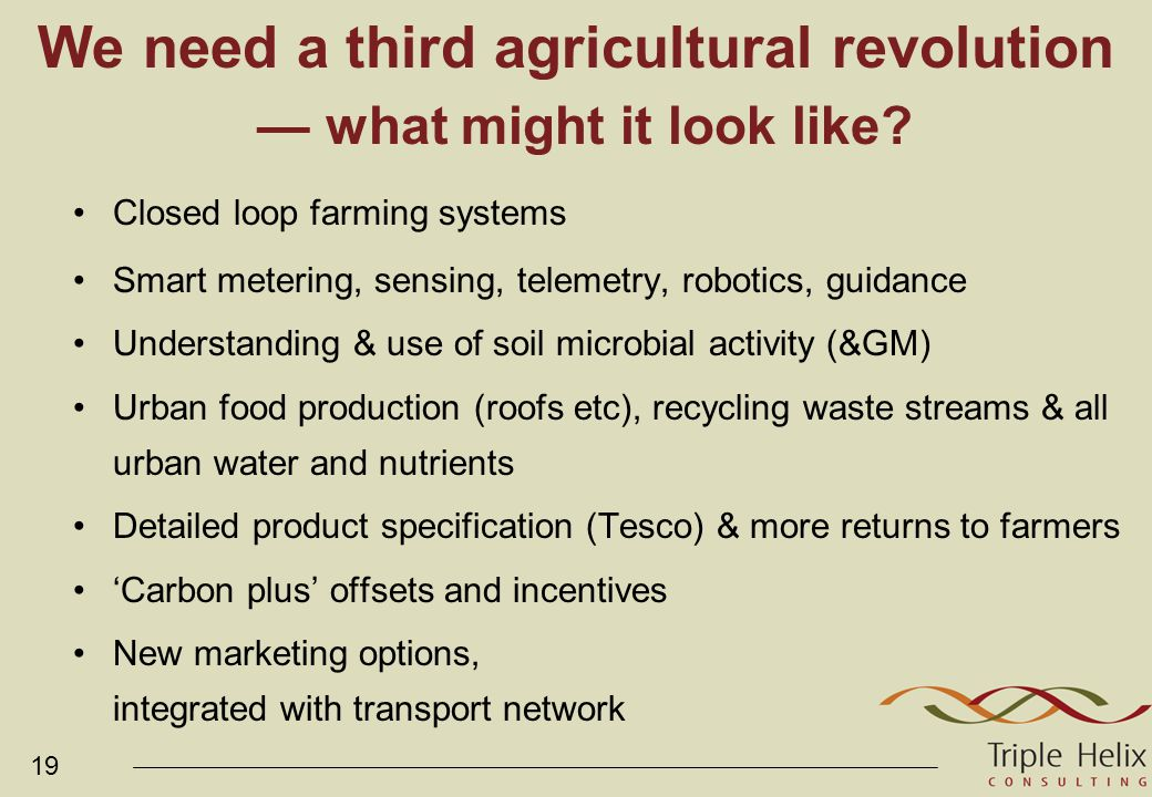 19 We need a third agricultural revolution — what might it look like.