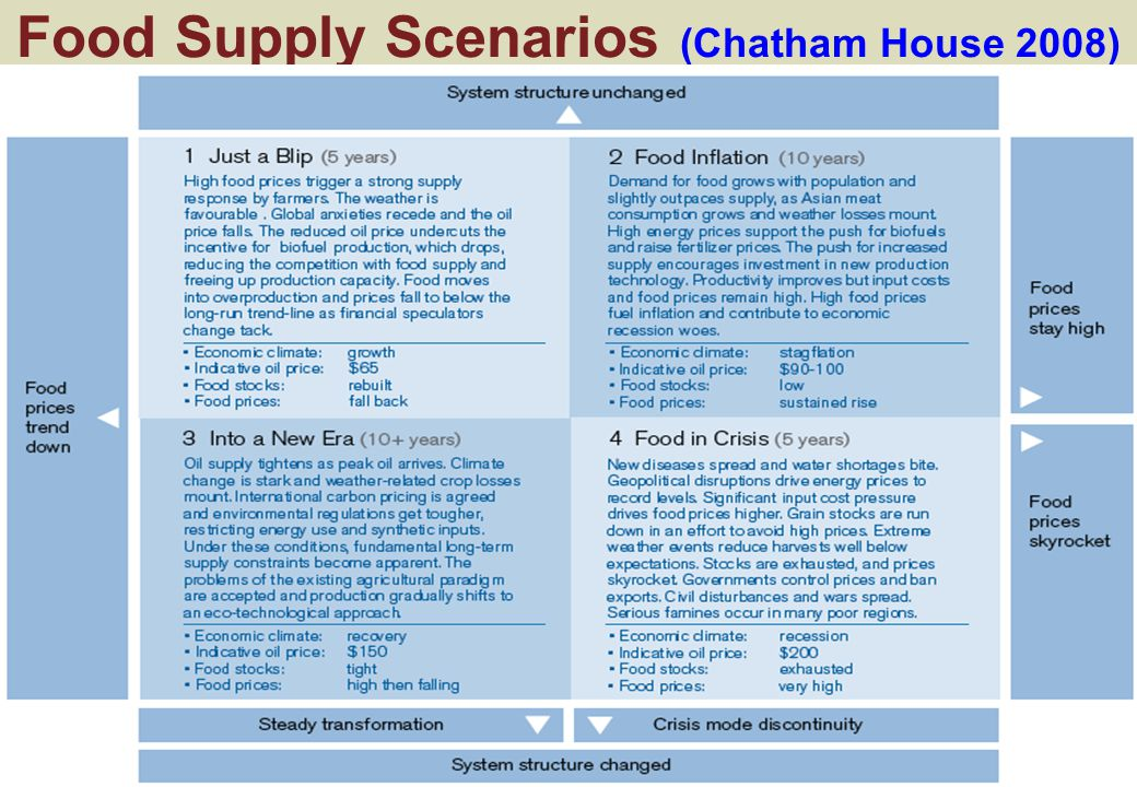 Food Supply Scenarios (Chatham House 2008)