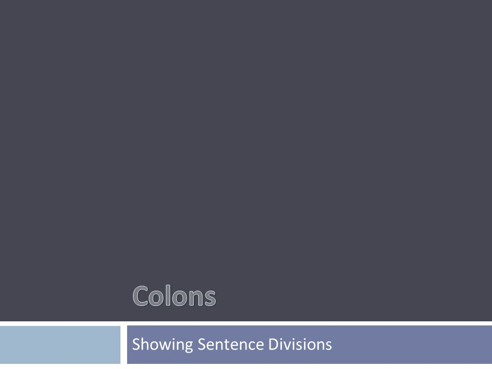Showing Sentence Divisions