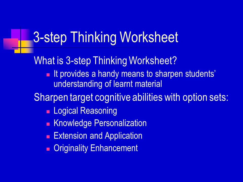 Using the Knowledge Building Worksheet How to use.