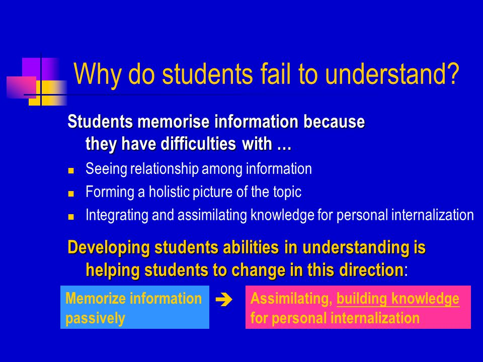 Helping students to understand Which approach works better .