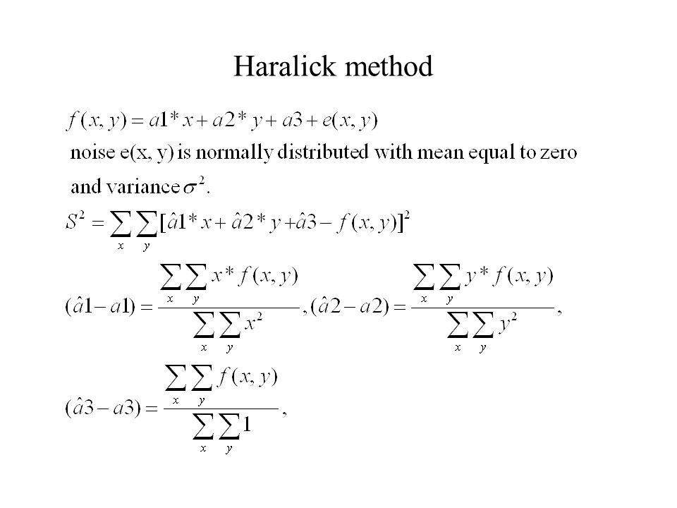 Haralick method