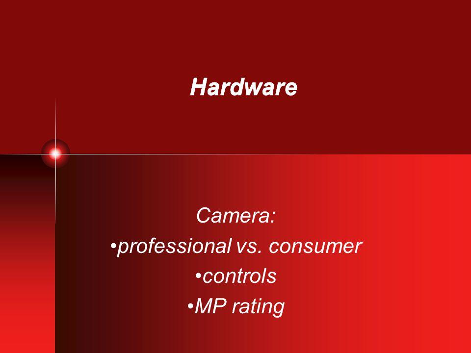 Hardware Camera: optical or digital zoom media
