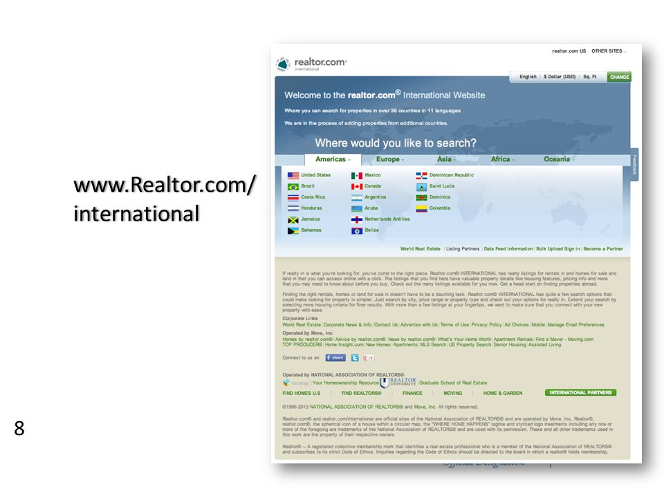 8 www.Realtor.com/international
