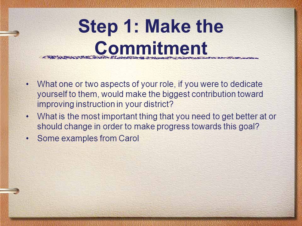 Frame your answer as a commitment I am committed to the value or importance of…