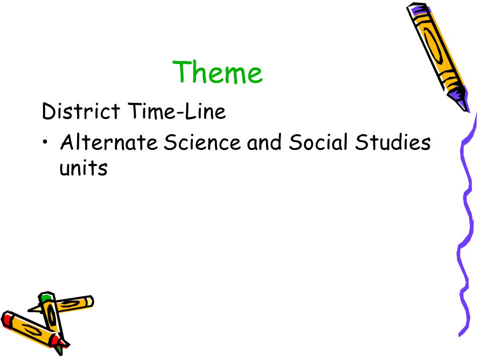 Theme District Time-Line Alternate Science and Social Studies units