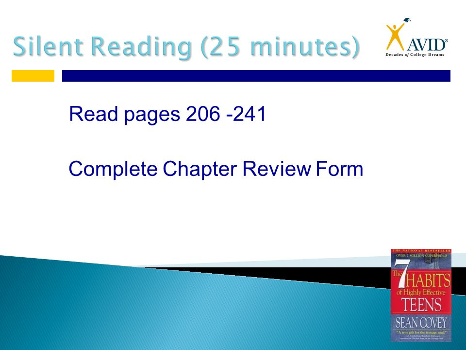 Read pages 206 -241 Complete Chapter Review Form