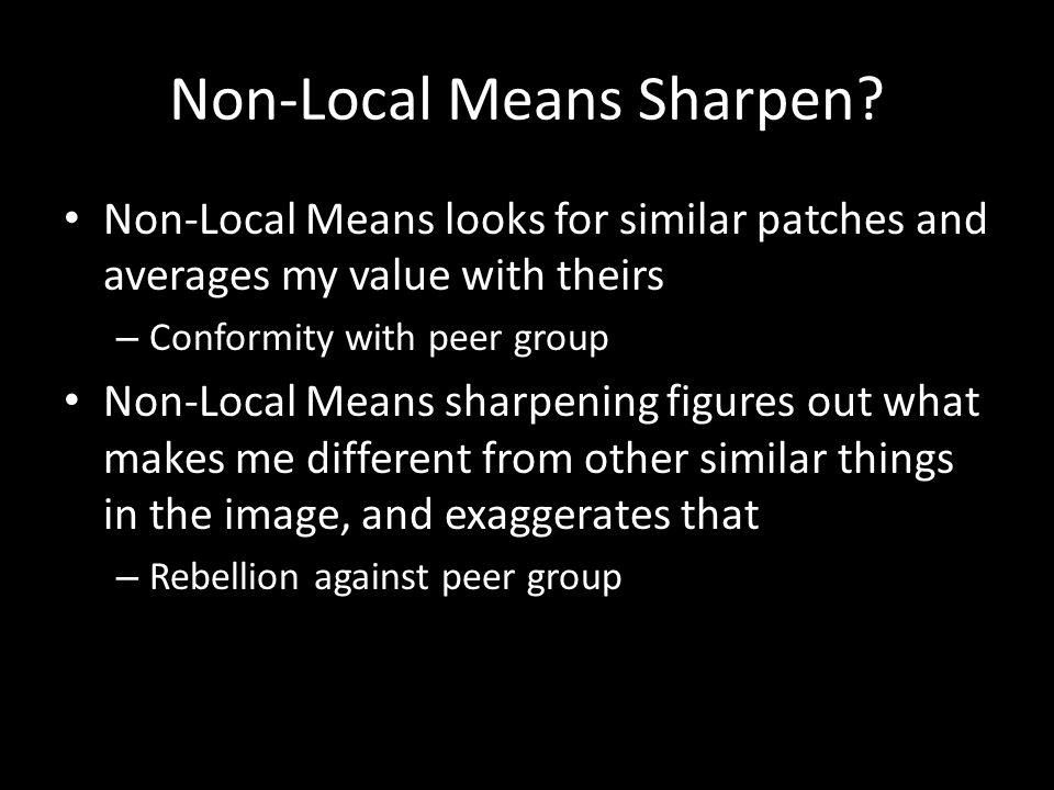 Non-Local Means Sharpen.
