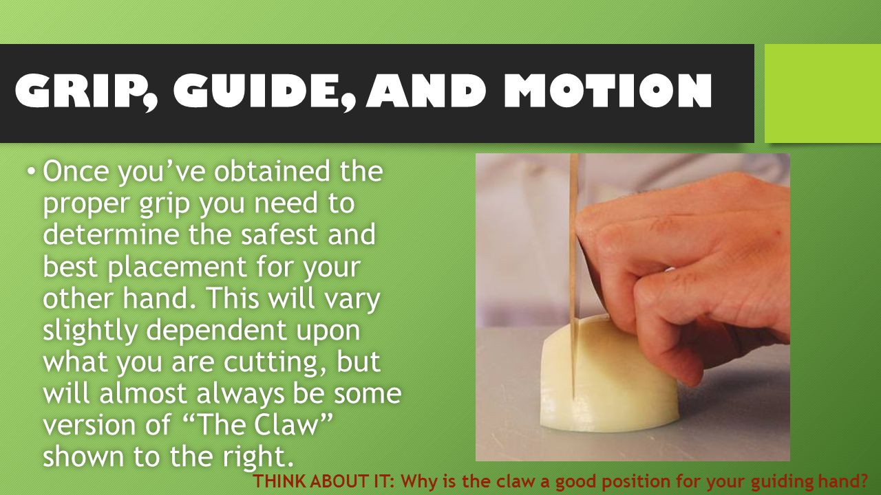 Once you've obtained the proper grip you need to determine the safest and best placement for your other hand.
