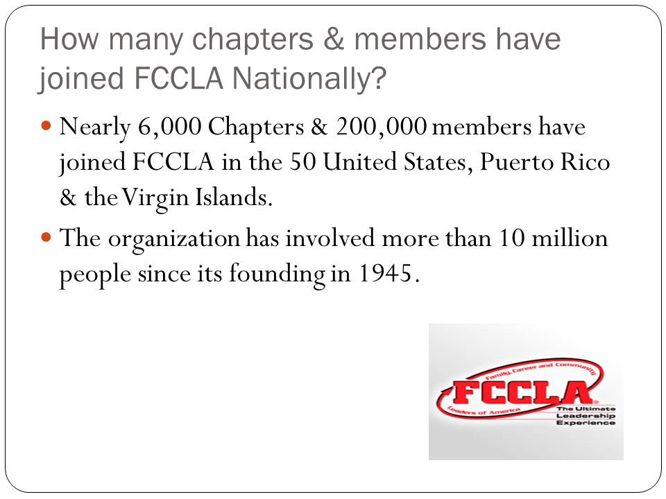 How many chapters & members have joined FCCLA Nationally.