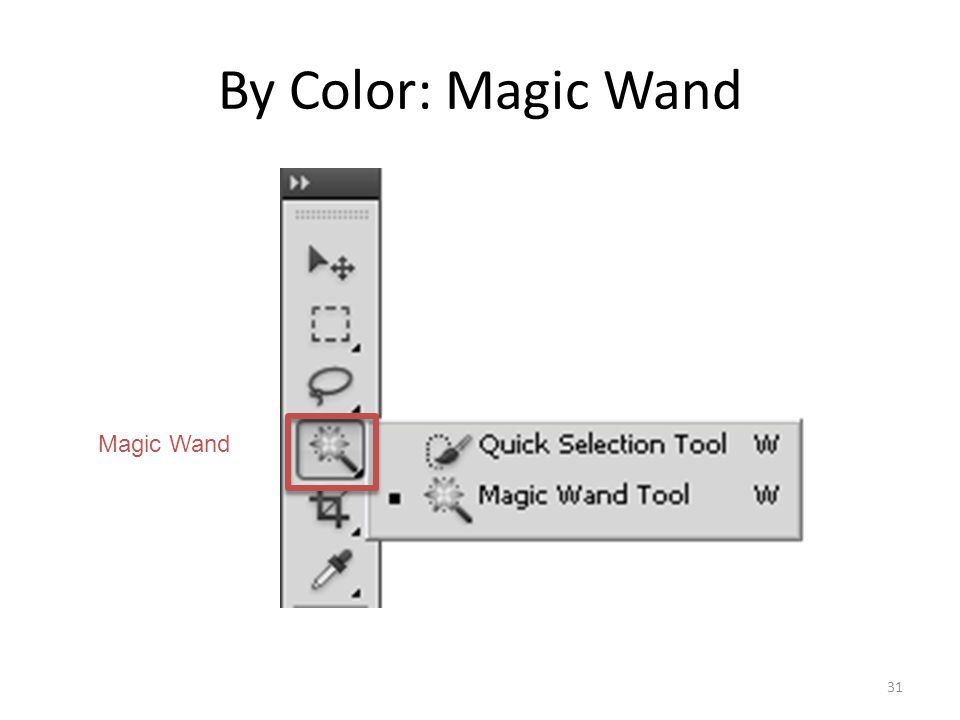 By Color: Magic Wand 31 Magic Wand