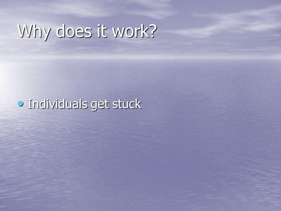Individuals get stuck Individuals get stuck