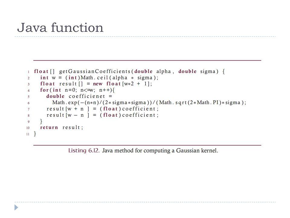 Java function