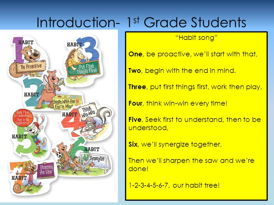 The next slide shares how a middle school student is using the Habits.