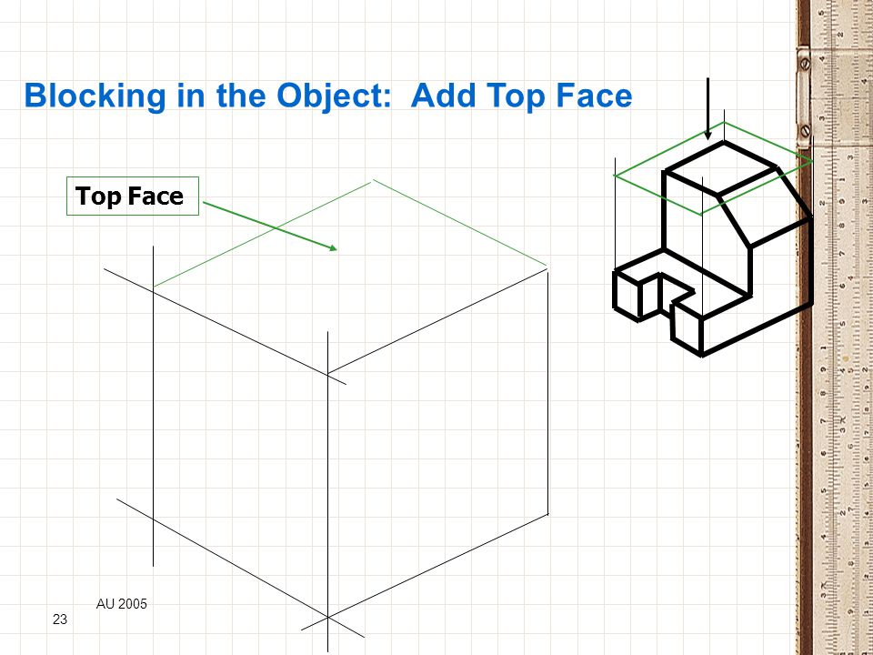AU 2005 23 Blocking in the Object: Add Top Face Top Face