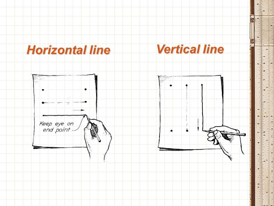 Horizontal line Vertical line