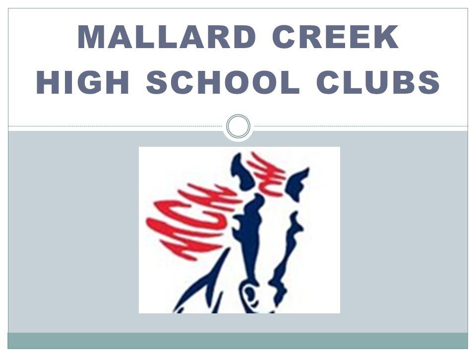 MALLARD CREEK HIGH SCHOOL CLUBS