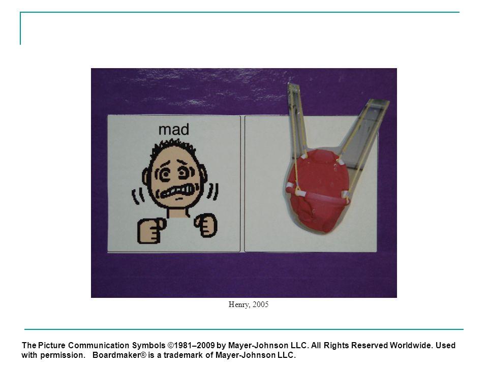 The Picture Communication Symbols ©1981–2009 by Mayer-Johnson LLC.