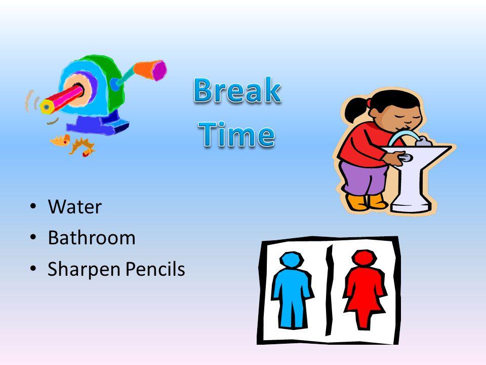 Water Bathroom Sharpen Pencils
