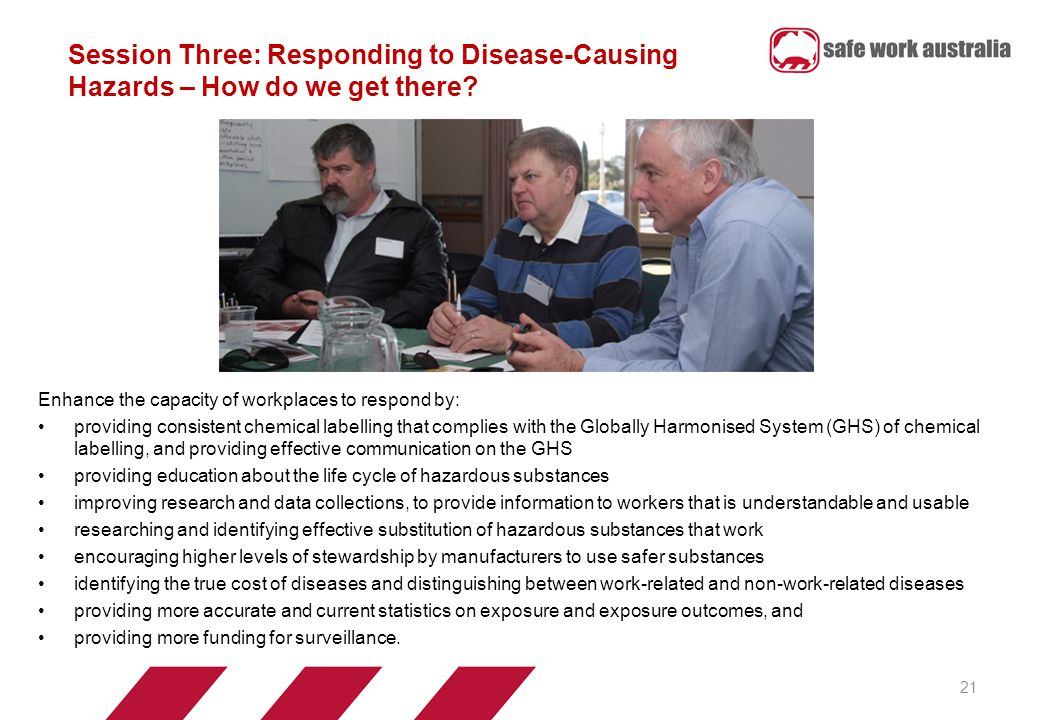 Session Three: Responding to Disease-Causing Hazards – How do we get there.