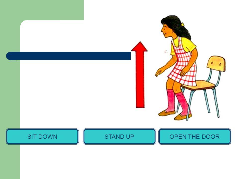 SIT DOWNSTAND UPOPEN THE DOOR