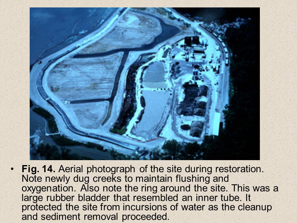 Fig. 14. Aerial photograph of the site during restoration.