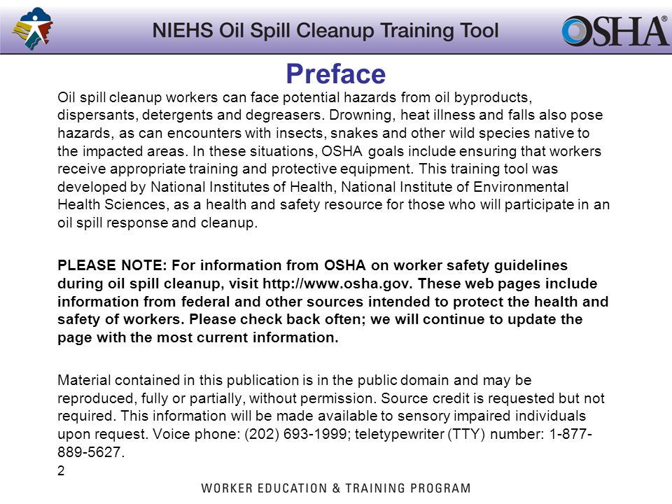 HAZWOPER Requirements that Apply to Marine Oil Spills Marine oil spill cleanup is organized and managed according to the regulations found in the National Oil and Hazardous Substance Pollution Contingency Plan (NCP) at 40 CFR 300.