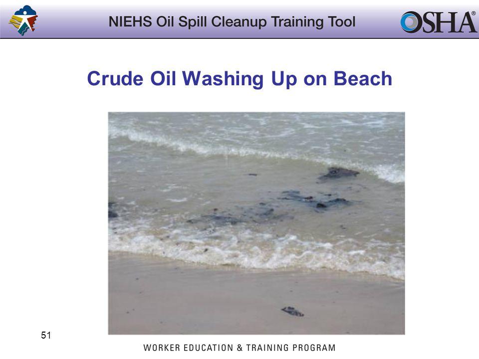Crude Oil Washing Up on Beach 51