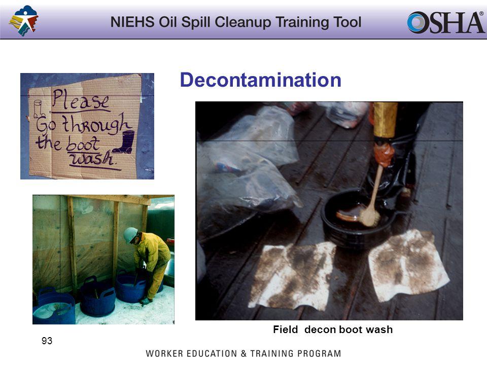 Decontamination Field decon boot wash 93