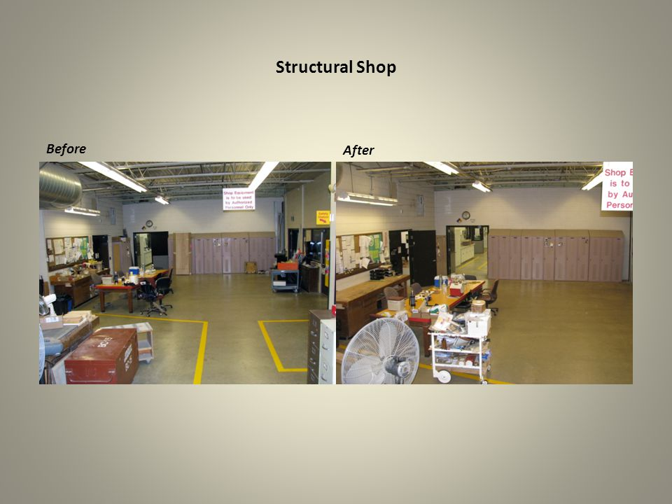 Structural Shop Before After