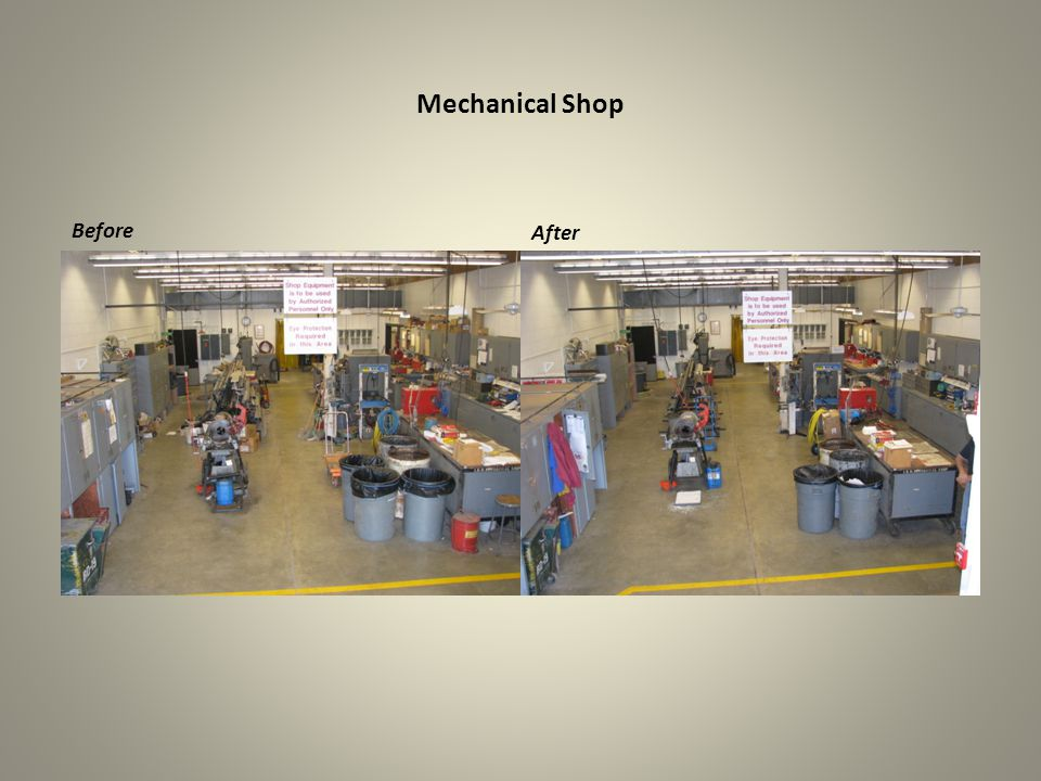 Mechanical Shop Before After