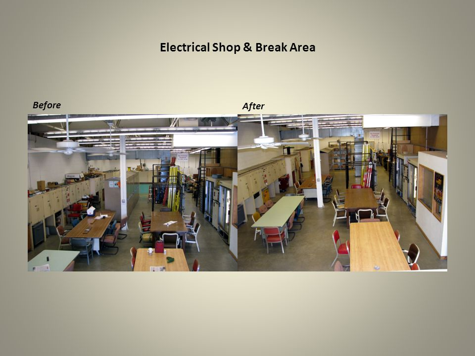 Electrical Shop – North End Before After
