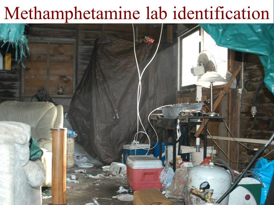 Methamphetamine lab identification