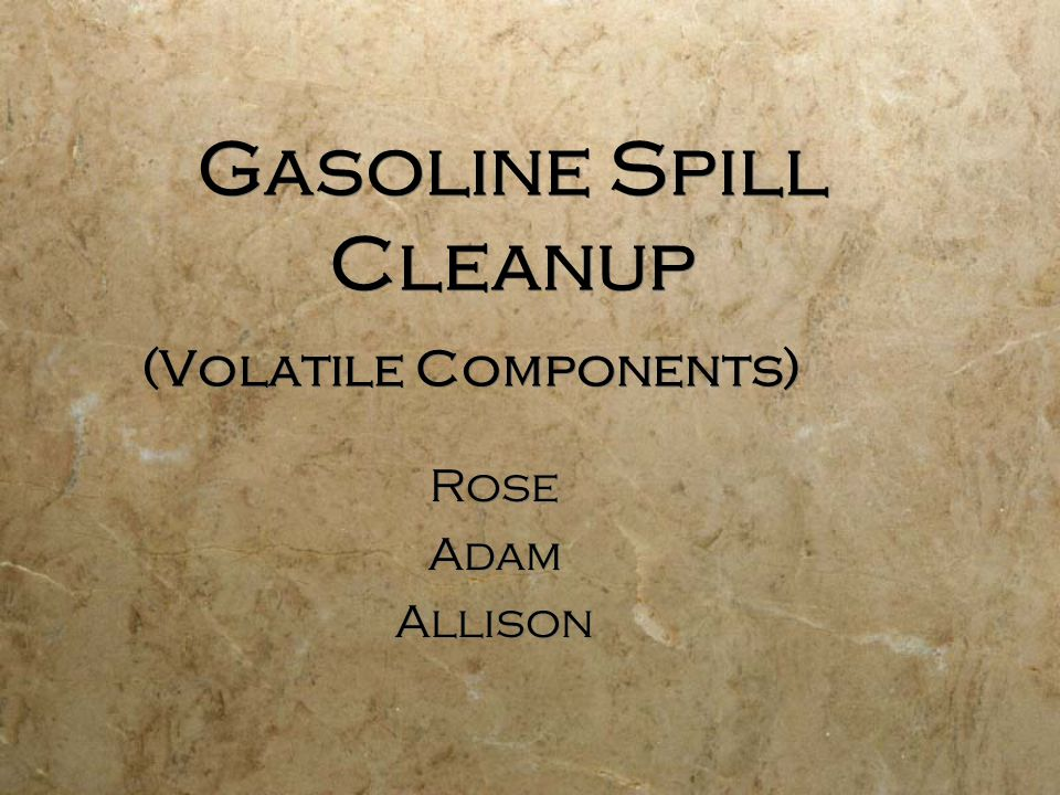 Problem Statement  To Design a System for Removing Harmful Petroleum Contaminants from a Spill at a Large Fuel Distribution Facility in Central Minnesota