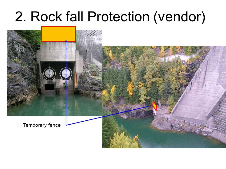 2. Rock fall Protection (vendor) Temporary fence