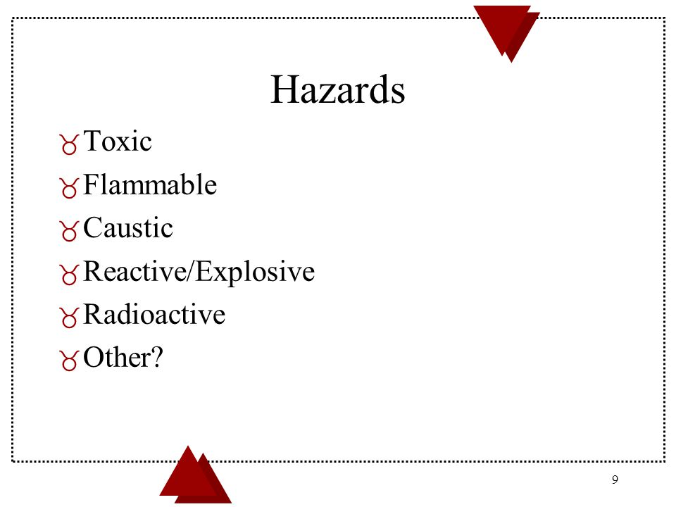 05/21/99 20 Where to obtain hazard information on the materials you use.