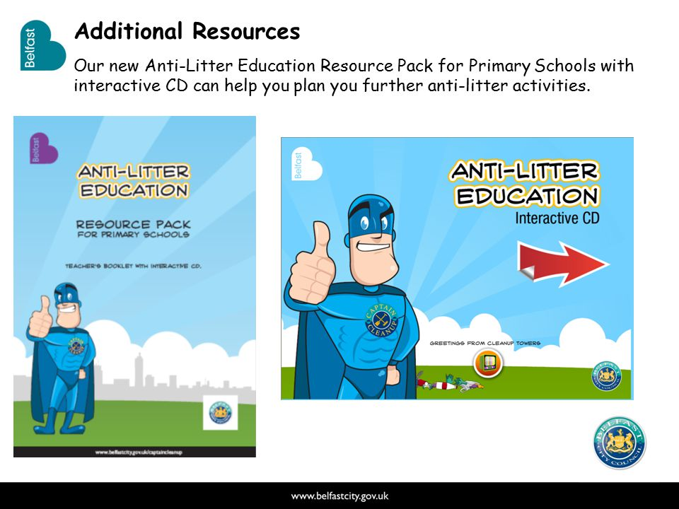 Additional Resources The Education Pack This 64 page teacher's book is packed with fun activities and resources, clear lesson plans and an interactive CD.