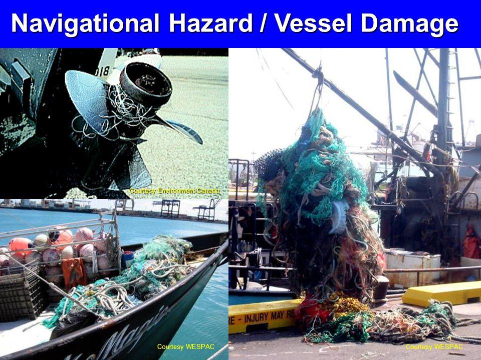 Courtesy WESPAC Courtesy Environment Canada Navigational Hazard / Vessel Damage