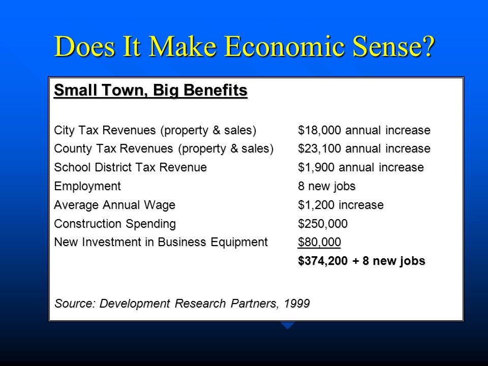 Does It Make Economic Sense.