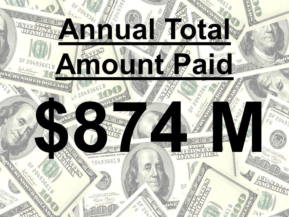$874 M