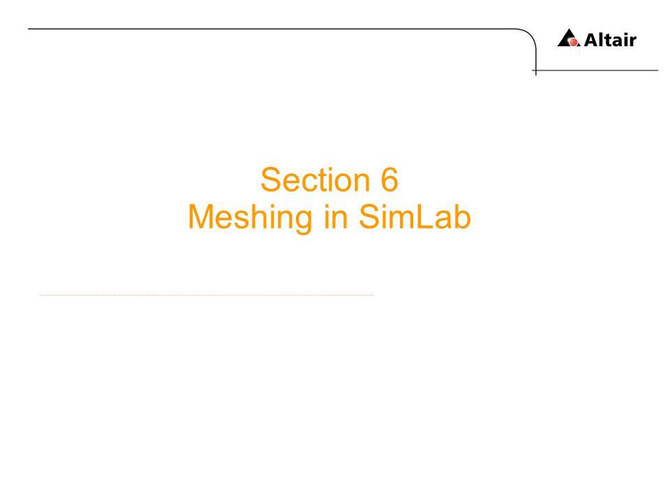Section 6 Meshing in SimLab