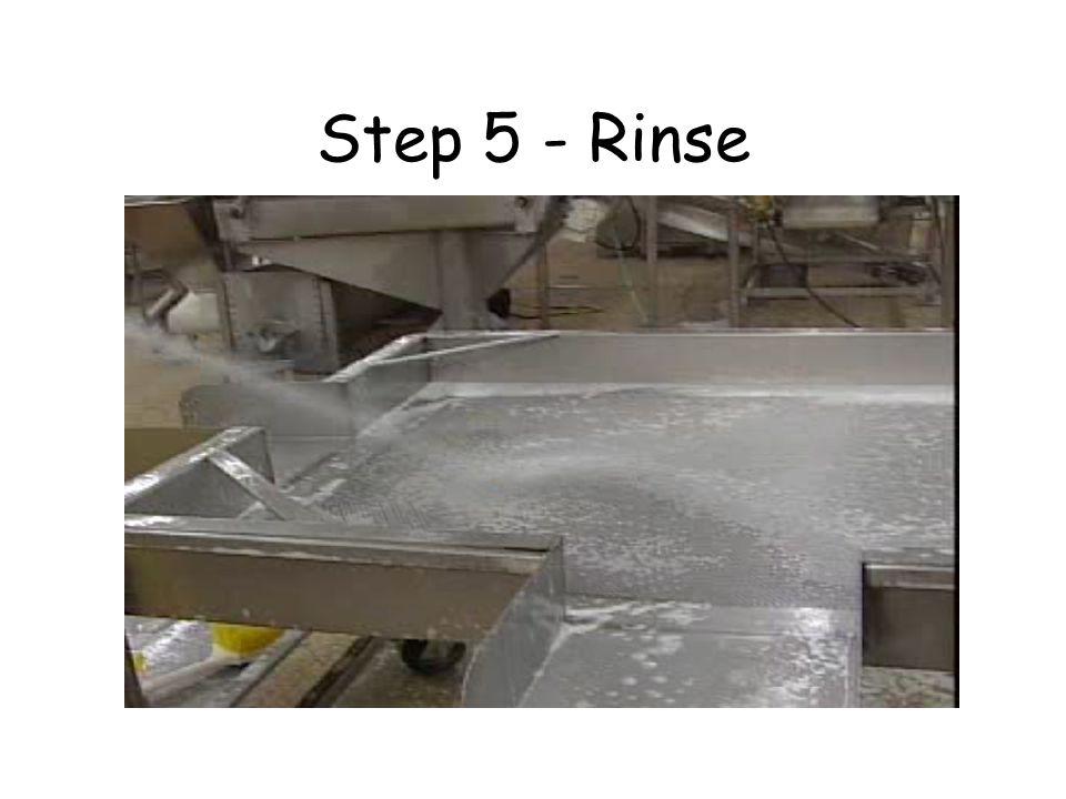Step 5 - Rinse