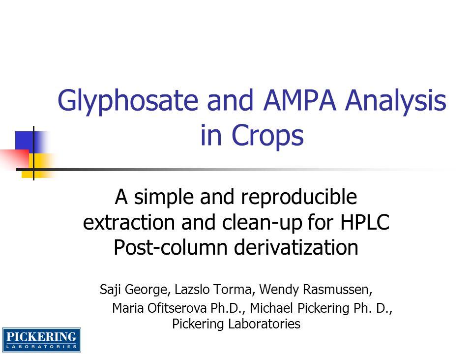 Strawberry glyphosate AMPA blank 0.500 ppm 0.250 ppm