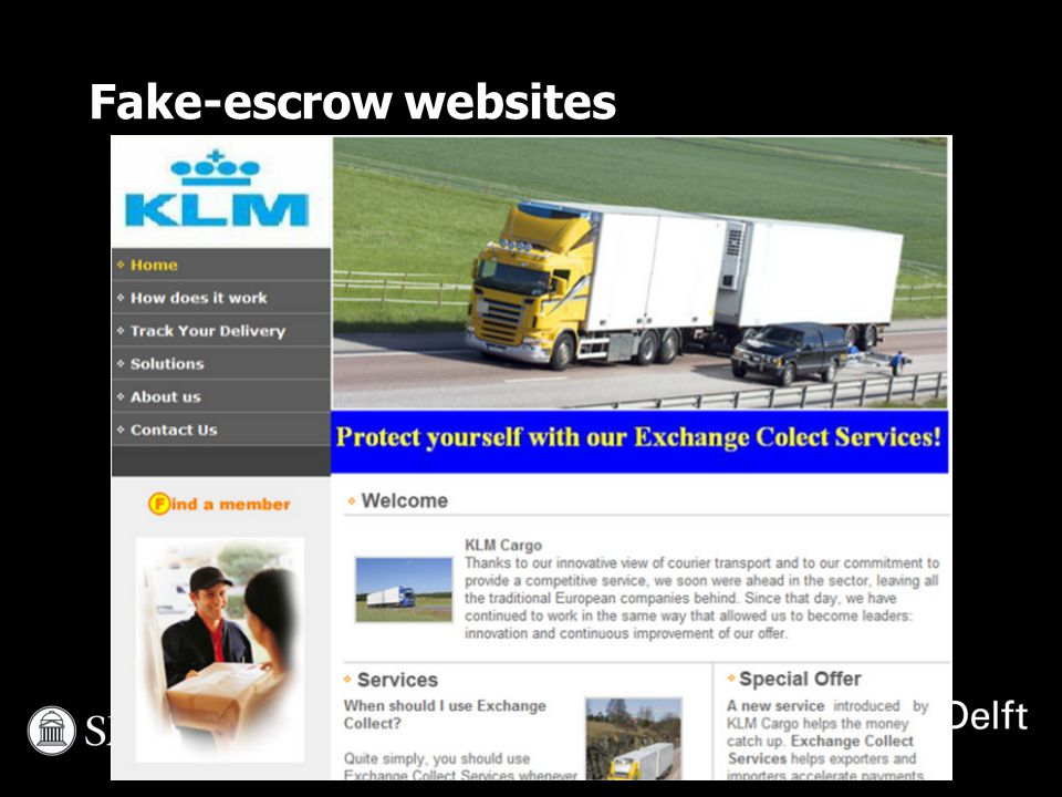 Fake-escrow websites