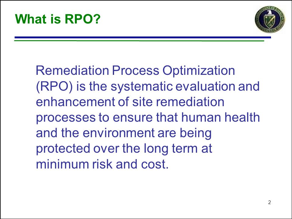 2 What is RPO.