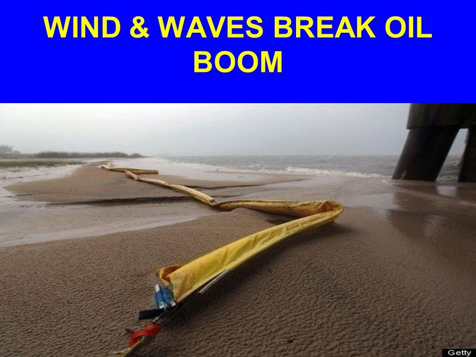 WIND & WAVES BREAK OIL BOOM