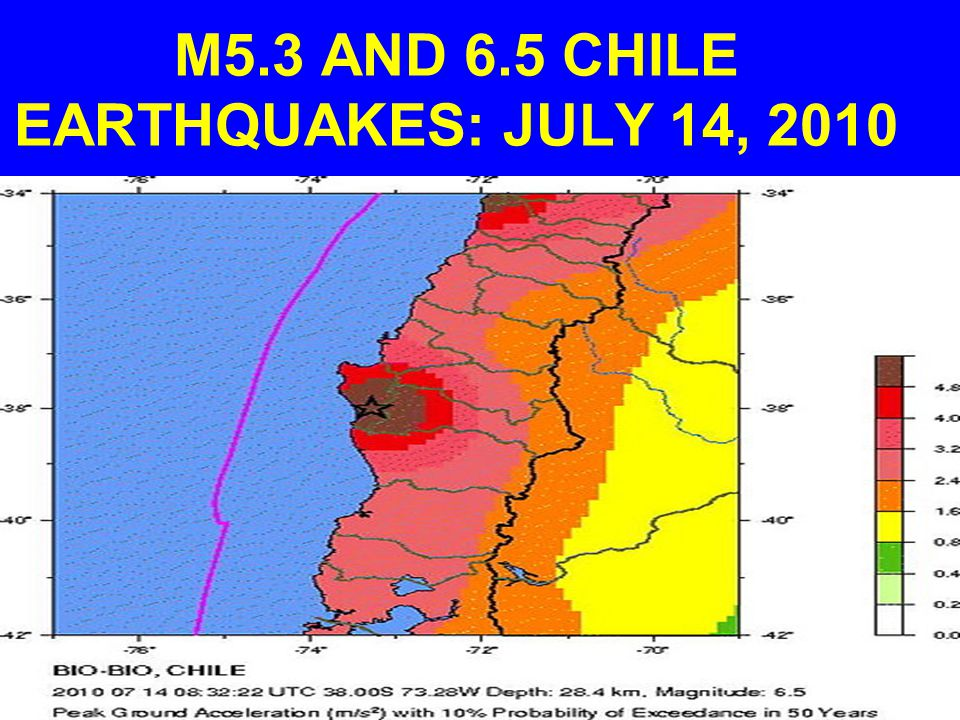 M5.3 AND 6.5 CHILE EARTHQUAKES: JULY 14, 2010