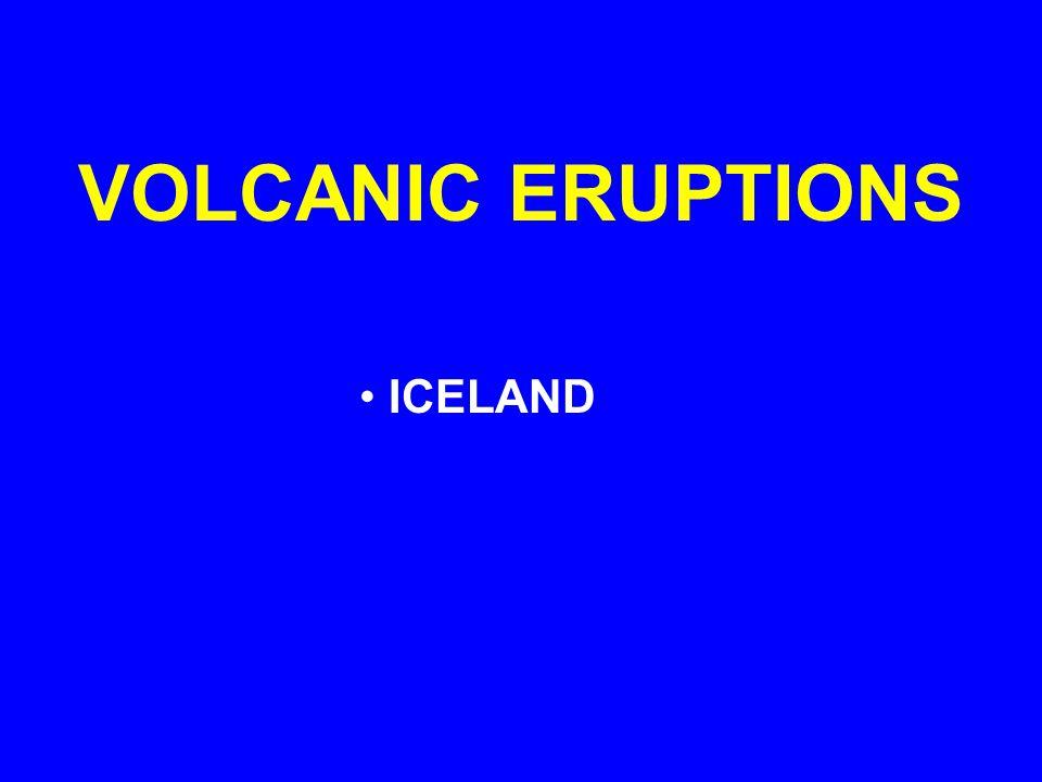 VOLCANIC ERUPTIONS ICELAND