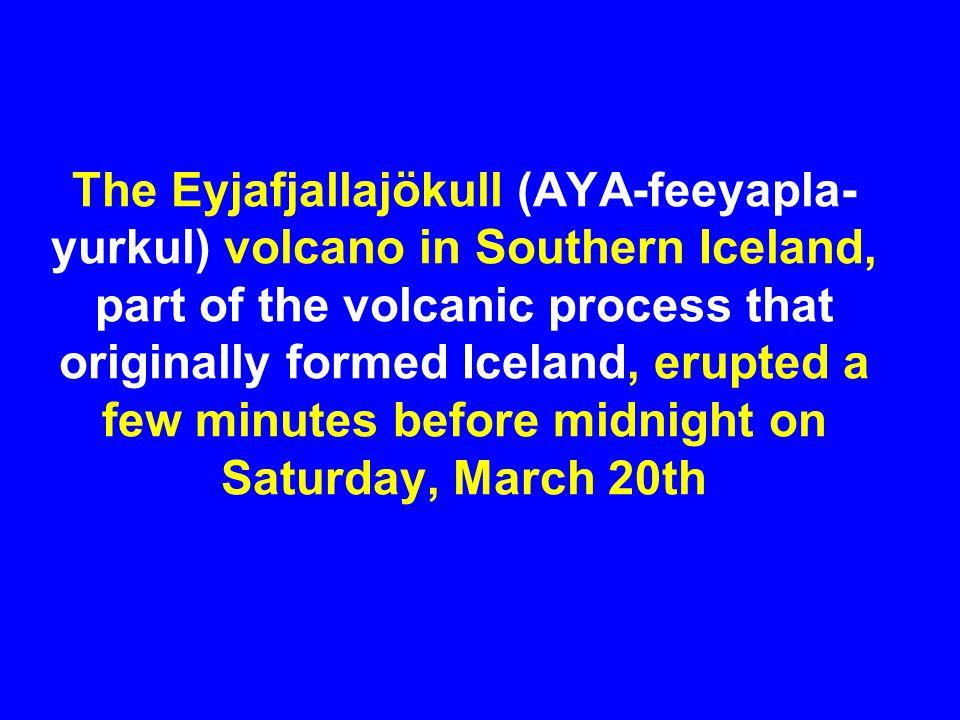 Plane (upper left) and Ash Cloud Over Iceland: April 18