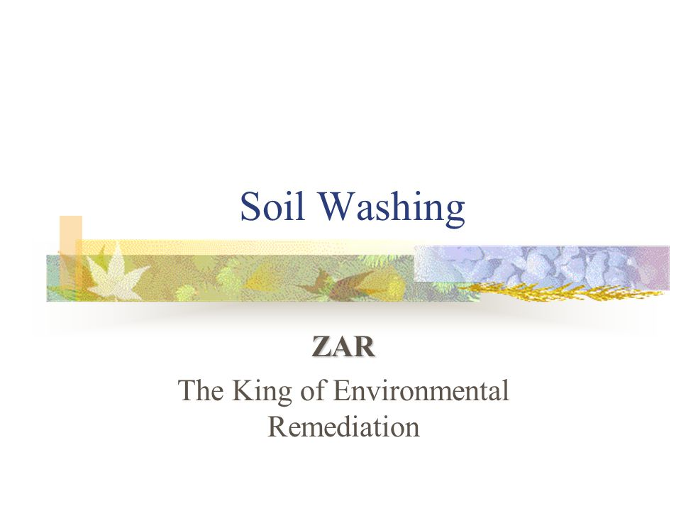 What is soil washing.Soil washing uses water to remove contaminants from soils.